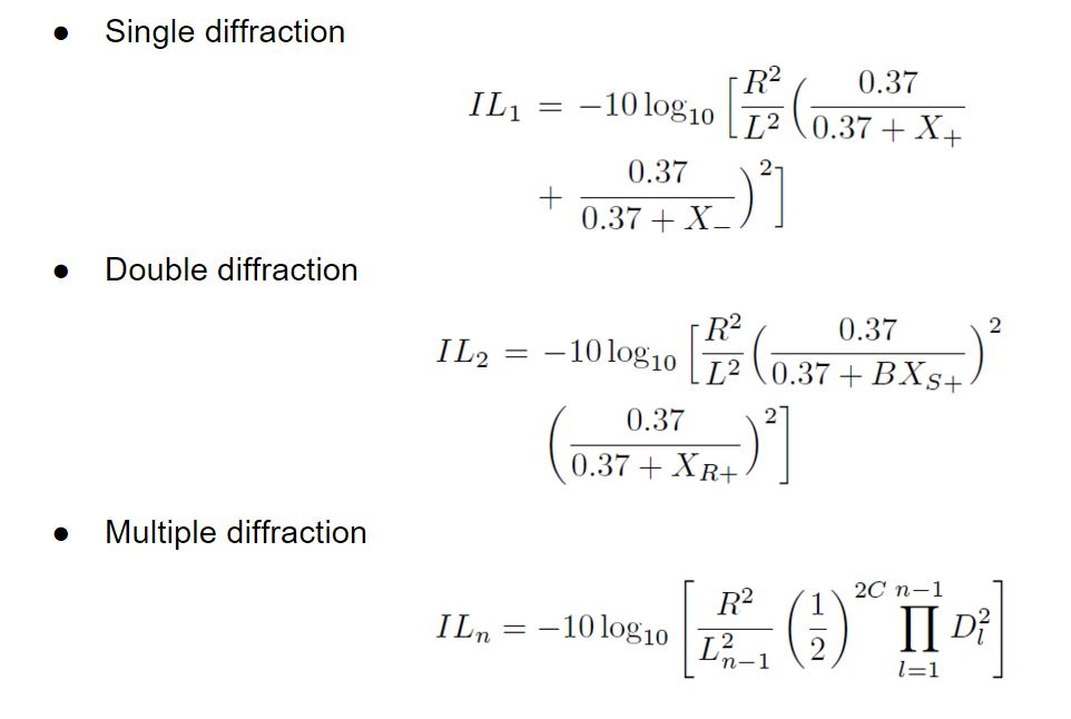 Single, double, and multiple diffraction