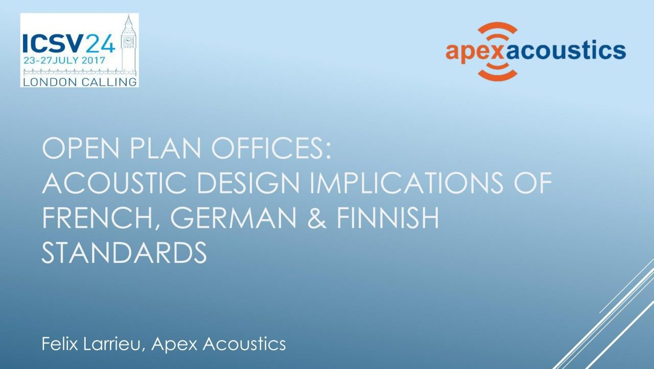 acoustics of open plan offices contrasting design implications from